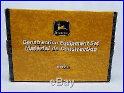 1/64 Ertl John Deere Construction Equipment Log Skidder, Backhoe, Excavator