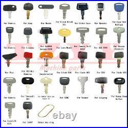 100 Heavy Construction Equipment Ignition Key Set for Case JD Kubota Komatsu JCB
