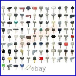 100pc Heavy Equipment Key Set Construction Ignition Keys for Caterpillar Sany JD