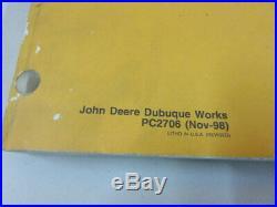 1998 John Deere PC2706 330LC 370 Excavator Factory OEM Parts Catalog Manual