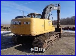 2008 Deere 200D LC Excavator, Cab/Heat/Air, Aux Hyd, JRB Hyd QC, 7,242 Hours