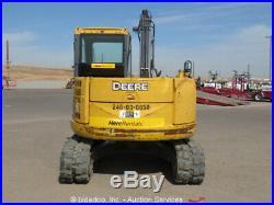 2011 John Deere 85D Mini Excavator A/C Cab Blade Q/C Aux Hydraulic bidadoo