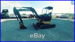 2012 John Deere 35 D Mini Ex Trackhoe Excavator With Push Blade Used