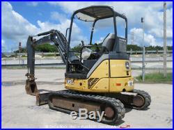 2012 John Deere 35D Hydraulic Mini Excavator Aux Backfill Tractor Q/C bidadoo
