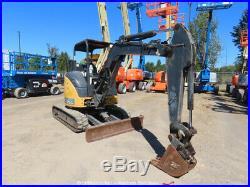 2014 John Deere 35G Mini Excavator Tractor Aux Hyd Q/C Backfill Blade bidadoo