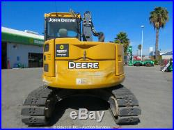 2015 John Deere 75G Mini Excavator Rubber Tracks A/C Cab Blade Aux Hyd bidadoo