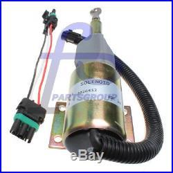 24V Fuel Injection Pump ShutOff Solenoid RE516083 For John Deere 200LC Excavator