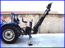 3 Point PTO Driven Hydraulic Backhoe Excavator Attachment John Deere Skid Steer