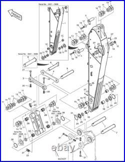 3088753 New Aftermarket PIN for John Deere. Models 230CLC, 240DLC, 250GLC, ZX230, ZX