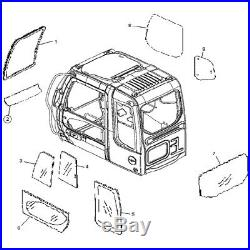 4602563 Front Lower Window Cab Glass For John Deere Hitachi Excavator