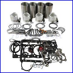 4LE1 Overhaul Rebuild Kit for John Deere 50 ZTS Midi Excavator Isuzu Engine