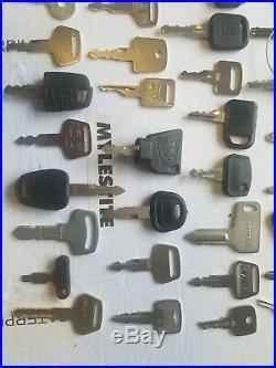55 Heavy Equipment Keys Caterpillar Kubota Komatsu Daewoo John Deere JCB Sany