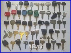 55 Ignition Equipment Keys Caterpillar Kubota Komatsu Case John Deere JCB Cat JD