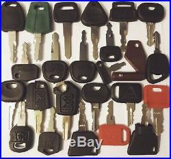 55pc Heavy Equipment Key Set Construction Ignition Keys CAT JCB Komatsu Volvo JD