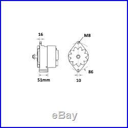 65A CASE I. H. John Deere CDC New Holland 0120488205 0120488293 Lichtmaschine