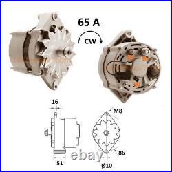 65A Lichtmaschine passend für John Deere CDD Rand 0120488205 0120488293 ARB4029