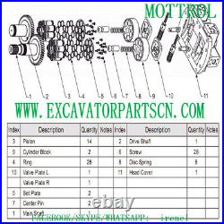A8v55 Hydraulic Pump Parts Fits John Deere Jd490d 290d 495d