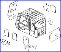 AT154431 Front Lower Windshield Cab Glass For John Deere Excavator E Series