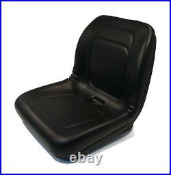 Black High Back Seat for John Deere 2200, 2200D & Motrec E330 Utility Vehicles