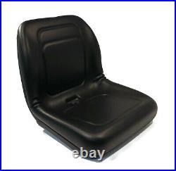 Black High Back Seat for John Deere 335, 345, 415, 425, 445, 455, 1642 V-Twin G