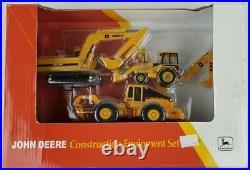 ERTL 1/64th John Deere Construction Equipment set Backhoe Skidder Excavator