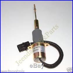 Electric Fuel Stop ShutOff Solenoid RE53560 24V For John Deere 892ELC Excavator