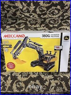 Erector By MECCANO John Deere 380G Excavator Set NIB