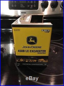 Excavator john deere 450D lc 1/50 ertl high detail very rare (excavatrice, pelle)