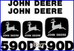 Fits John Deere 590D Excavator Decal Set JD Decals
