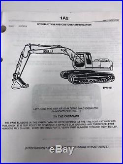 JOHN DEERE 200LC EXCAVATOR PARTS MANUAL BOOK CATALOG PC-2561 Oct-00