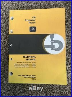 John Deere 110 Excavator Repair Technical Manual TM1658