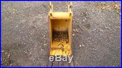 John Deere 12 Mini Excavator Digging Bucket