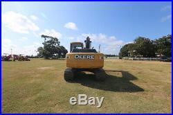 John Deere 120d Cab Track Excavator, Ac/heat, 93hp, Front Aux Hyd, Radio, Auto I