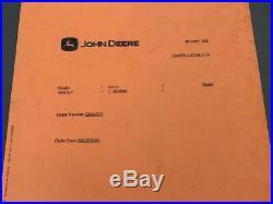 John Deere 200CLC MANUAL #35906/ 35907 PARTSCATALOG BOOK EXCAVATOR PC2897 WK