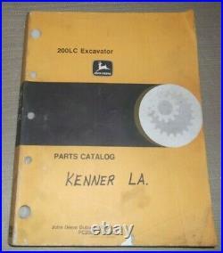 John Deere 200lc Excavator Parts Manual Book Catalog Pc2561