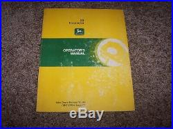 John Deere 25 Excavator Owner Operator Maintenance Manual OMT107064