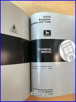 John Deere 27ZTS Excavator Operation & Tests and Repair Manuals