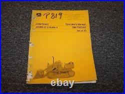 John Deere 350B Crawler Loader Owner Operator Maintenance Manual Guide OM-T32059
