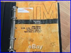 John Deere 410B 410C 510B 510C Backhoe Loaders technical operation test manual