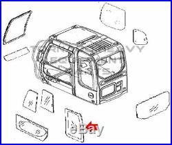 John Deere 4602567 Excavator LH Side Rear Cab Glass