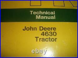 John Deere 4630 Tractor Technical Service Shop Repair Manual Book Tm1058