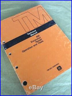 John Deere 490 Excavator Operation Test Shop Repair Technical Manual TM1302 Book