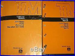 John Deere 495D Excavator Technical Service Manual Set