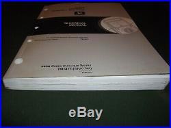 John Deere 50zts Excavator Technical Service Op Test Shop Book Manual Tm-1817