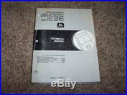 John Deere 690D 690D-LC Excavator 693D Feller Buncher Operation & Test Manual