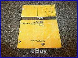 John Deere 690D Excavator 639D Feller Buncher Delimber Repair Service Manual