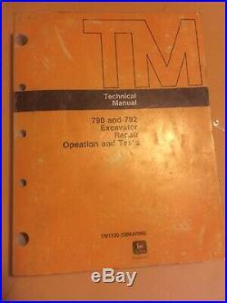 John Deere 790 792 Excavator Operation & Test Shop Service Repair Manual TM1320