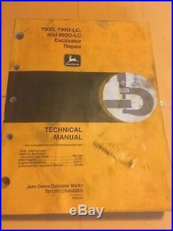 John Deere 790D 790D-LC 892D-LC Excavator Technical Repair Shop Manual TM1396