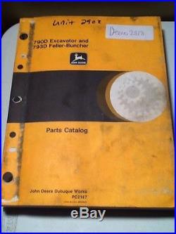 John Deere 790D Excavator and 793D Feller-Buncher Parts Catalog OEM