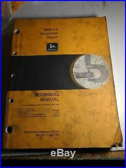 John Deere 790E-LC Excavator Repair Technical Manual Service Book TM1509